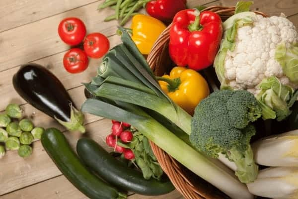Fresh vegetables from your garden is one of the health benefits of container gardening.