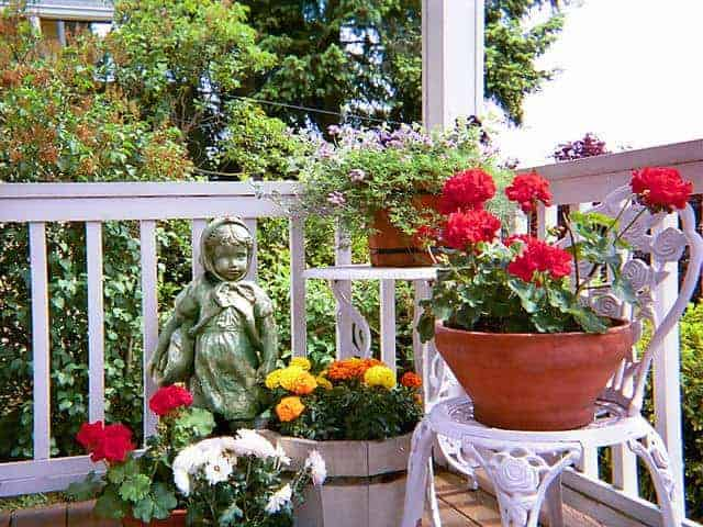 Container gardening does have advantages.